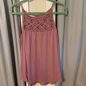 Strappy crocheted tank